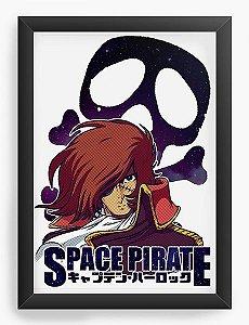 Quadro Decorativo A4(33X24) Anime Space Pirate captain harlock