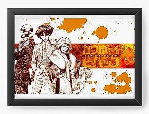 Quadro Decorativo A4(33X24) Anime Cowboy Bebop Série