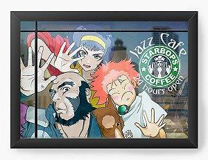 Quadro Decorativo A4(33X24) Anime Cowboy Bebop Jazz Café 24hr
