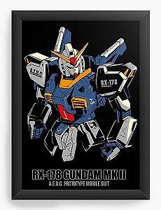 Quadro Decorativo A4(33X24) Anime Gundam RX-178