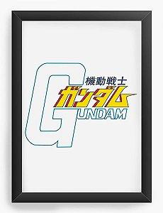 Quadro Decorativo A4(33X24) Anime Gundam