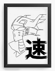 Quadro Decorativo A4(33X24) Anime Ingenium Hero Academia