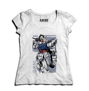 Camiseta  Feminina Anime Gundam Strike