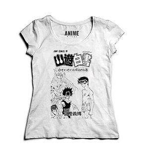 Camiseta  Feminina Anime   Yu Yu Hakusho