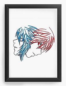 Quadro Decorativo A4(33X24) Anime Death Note Kira vs L