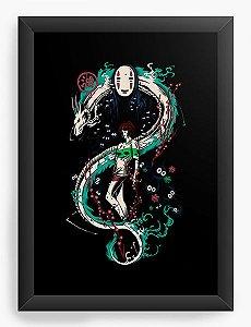 Quadro Decorativo A4(33X24) Anime   Spirited Graffiti