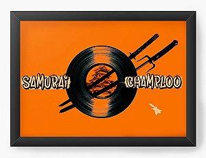 Quadro Decorativo A4(33X24) Anime Samurai Shamploo adventure and action
