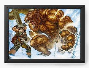 Quadro Decorativo A4(33X24) Anime Berserk Fight between Giants