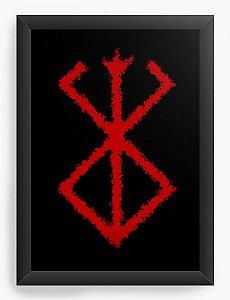 Quadro Decorativo A4(33X24) Anime Berserk Simbol