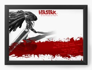 Quadro Decorativo A4(33X24) Anime Berserk Blood