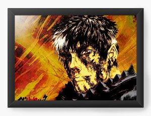 Quadro Decorativo A4(33X24) Anime Berserk Face