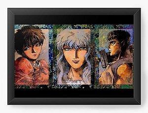 Quadro Decorativo A4(33X24) Anime Berserk Portrait