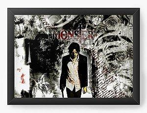 Quadro Decorativo A4(33X24) Anime Monster Men
