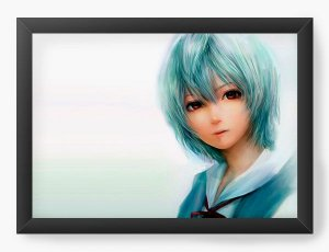 Quadro Decorativo A4(33X24) Anime Neon Genesis Evangelion  Rei Ayanami