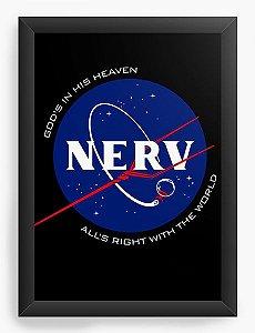 Quadro Decorativo A4(33X24) Anime Neon Genesis Evangelion Nerv