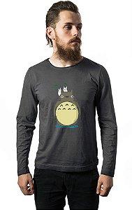 Camiseta Manga Longa Anime Totoro