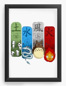 Quadro Decorativo A4(33X24) Anime Totoro Ghibli