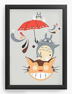 Quadro Decorativo A4(33X24) Anime Totoro Neighborhood Friends