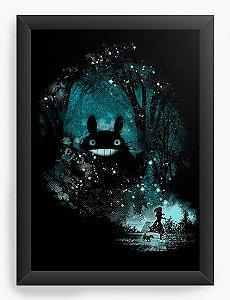 Quadro Decorativo A4(33X24) Anime Totoro the Big Friend