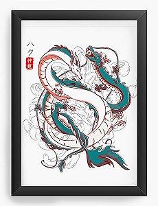 Quadro Decorativo A4(33X24) Anime Japanese Dragons