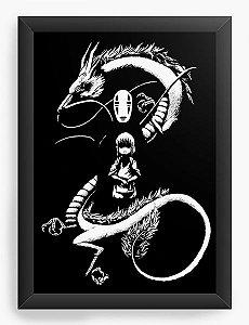 Quadro Decorativo A4(33X24) Anime Spirited Away A Noir Spirit