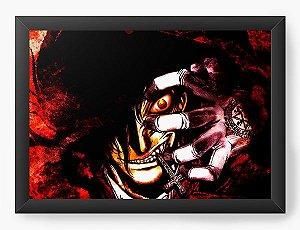Quadro Decorativo A4(33X24) Anime Hellsing Face