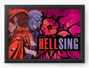 Quadro Decorativo A4(33X24) Anime Hellsing