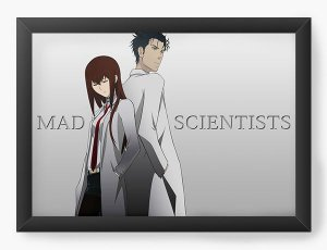 Quadro Decorativo A4(33X24) Anime Steins Gate