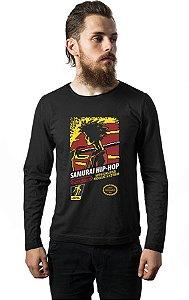 Camiseta Manga Longa Anime Samurai Champloo Hip Hop