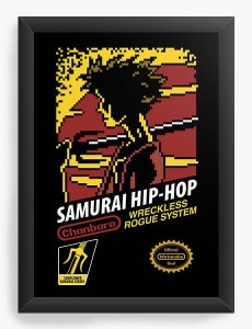 Quadro Decorativo A4(33X24) Anime Samurai Champloo Hip Hop