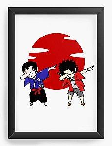 Quadro Decorativo A4(33X24) Anime Samurai Champloo Mugen x Jin