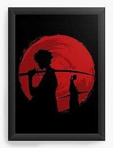 Quadro Decorativo A4(33X24) Anime Samurai Champloo