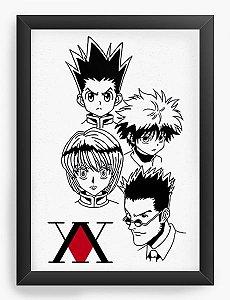 Quadro Decorativo A3 (45X33) Anime Hunter Rostos