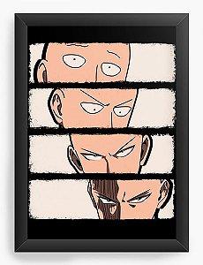 Quadro Decorativo A3 (45X33) Anime One Punch Transformation