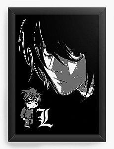 Quadro Decorativo A3 (45X33) Anime Death Note Lawliet