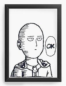Quadro Decorativo A3 (45X33) Anime One Punch Saitama