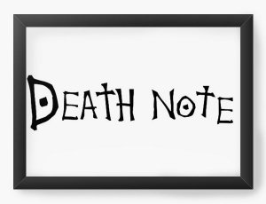 Quadro Decorativo A3 (45X33) Anime Death Note