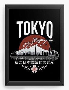 Quadro Decorativo A3 (45X33) Anime Tokyo - 'I don't speak Japanese