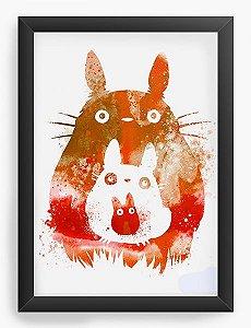 Quadro Decorativo A3 (45X33) Anime  Totoro and Mini Totoros