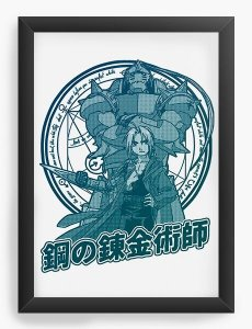 Quadro Decorativo A3 (45X33) Anime  Fullmetal Edward