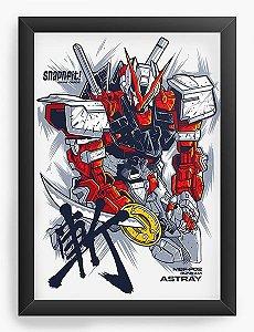 Quadro Decorativo A3 (45X33) Anime Gundam Astray Red Frame