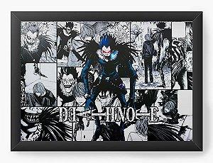 Quadro Decorativo A3 (45X33) Anime Death Note   Ryuk