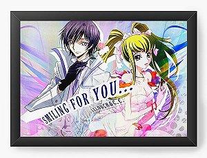 Quadro Decorativo A3 (45X33) Anime  Code Geass Smiling For You