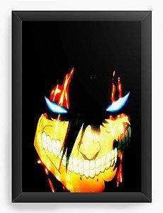 Quadro Decorativo A3 (45X33) Anime Attack on Titan  Eren Yeager