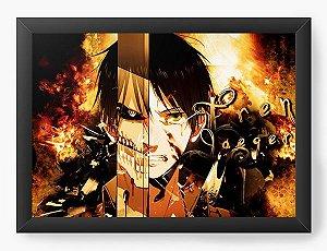 Quadro Decorativo A3 (45X33) Anime  Mangá Attack on Titan