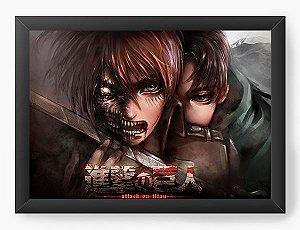 Quadro Decorativo A3 (45X33) Anime Attack on Titan