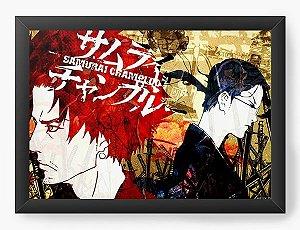 Quadro Decorativo A3 (45X33) Anime Samurai Shamploo