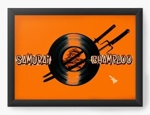 Quadro Decorativo A3 (45X33) Anime Samurai Shamploo adventure and action