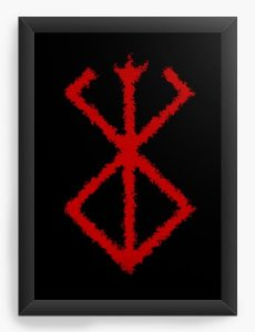 Quadro Decorativo A3 (45X33) Anime Berserk Simbol