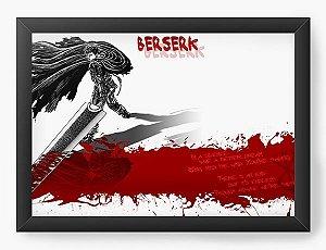 Quadro Decorativo A3 (45X33) Anime Berserk Blood